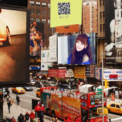 街头荧幕图片合成