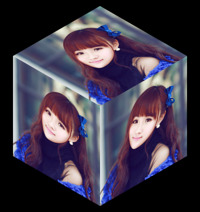 照片合成3D立方体