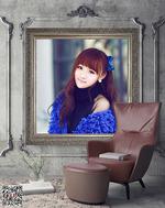 沙发后壁画相框照片合成
