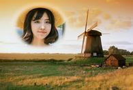 童话风车照片合成