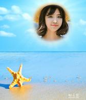 沙滩海星照片合成