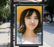 公交车站台广告牌照片合成