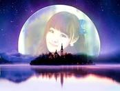 湖心月亮浪漫照片合成