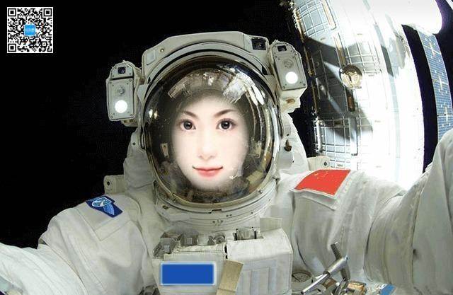 穿上宇航服遨游太空