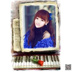 钢琴唯美图片合成