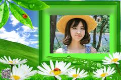 清晨露珠绿色好心情小清新相框