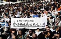 体育场球迷举标语横幅在线制作