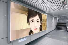 地铁出口灯箱广告图片合成