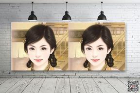 墙面照片合成制作