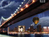 金门大桥夜景梦幻照片合成