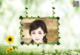 绿植相框照片合成