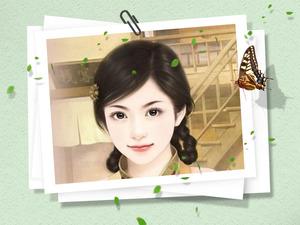 绿叶蝴蝶春的气息照片合成