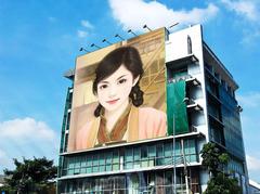 建筑墙面照片合成