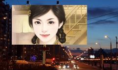 夜幕下的街头广告牌照片合成