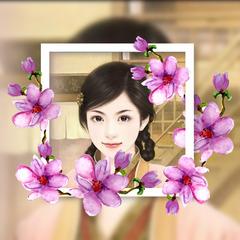 画中画樱花相框头像制作