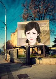 街边一角广告牌合成