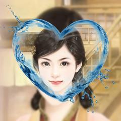 心型水滴画中画