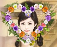 心型花环画中画
