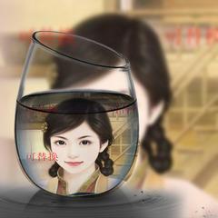 玻璃杯子画中画