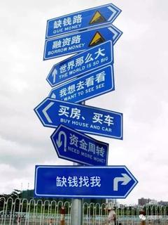 路标指示牌